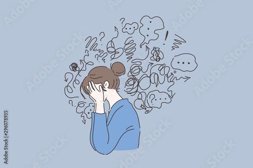 Fotografija Mental disorder, finding answers, confusion concept