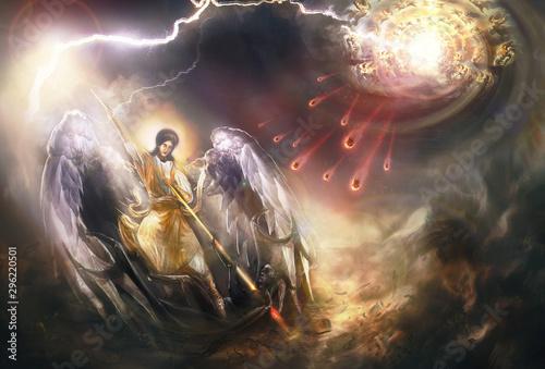 Saint Archangel Michael kills Lucifer Poster Mural XXL