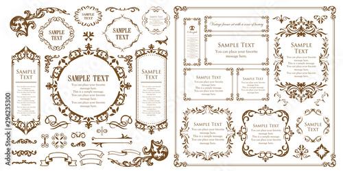 装飾デザイン 美しい額 フレームデザイン テンプレート アンティーク ビンテージ ラグジュアリー Fototapeta