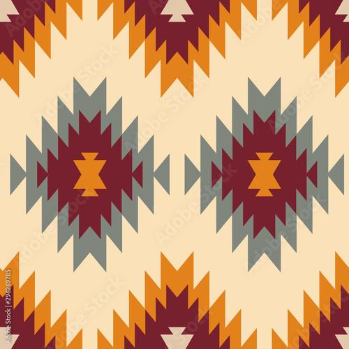 Fototapeta Tribal southwestern native american navajo seamless pattern