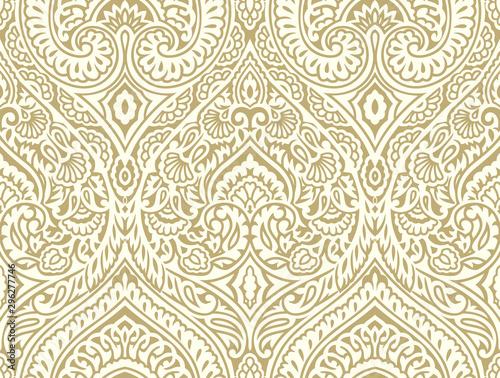 Fototapeta Seamless vintage damask wallpaper design