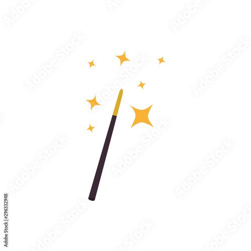 Fotografie, Obraz fairytale magic wand fantastic isolated icon vector illustration design