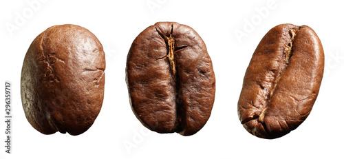 Obraz na płótnie Three coffee beans.