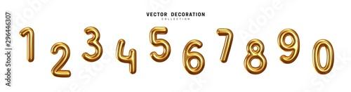 Fotografia Golden Number Balloons 0 to 9