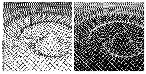 Fotografiet Wave wireframe view