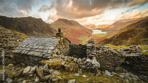 Fotografie, Obraz A view of Buttermere from Warnscale Bothy in the Lake District, England