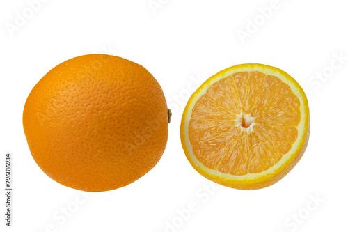 Fotografie, Obraz Pomarańcza cała i połowa
