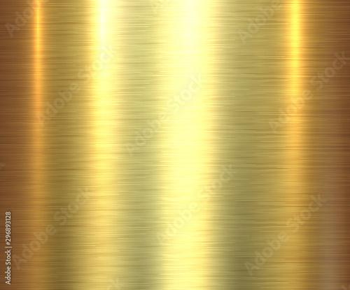 Fotografering Metal gold texture background, golden brushed metallic texture plate