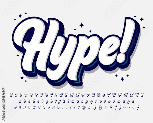 Fotografia Hipster youth alphabet style