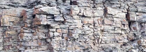Cuadros en Lienzo Rock cliff face background