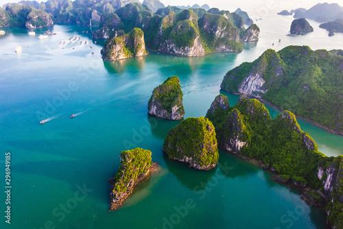 Stampa su Tela Aerial view of Ha Long Bay, Vietnam