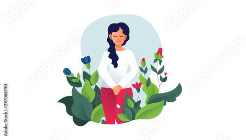 Photo Urinary incontinence, cystitis, involuntary urination woman vector illustration