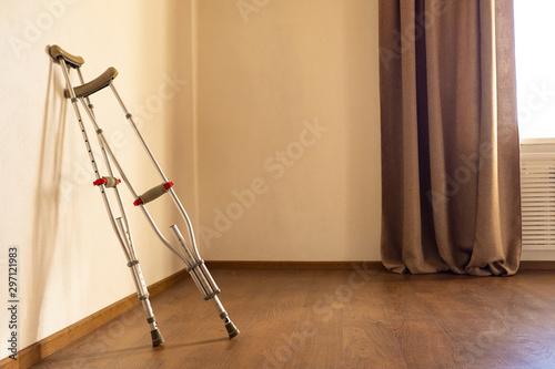 Crutches are in the room Tapéta, Fotótapéta