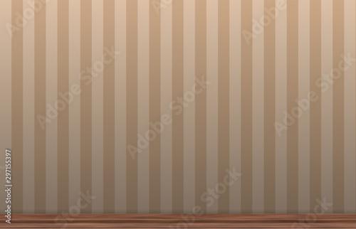 Fototapeta interior wall with wooden molding