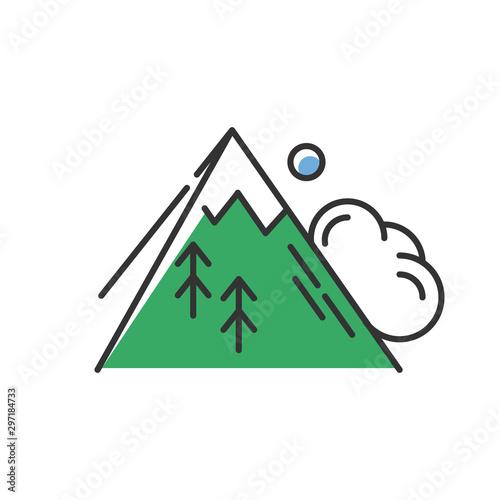 Fotografie, Obraz Avalanche green color icon