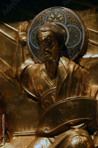 Obraz na płótnie Detail of golden altarpiece showing the twelve apostles