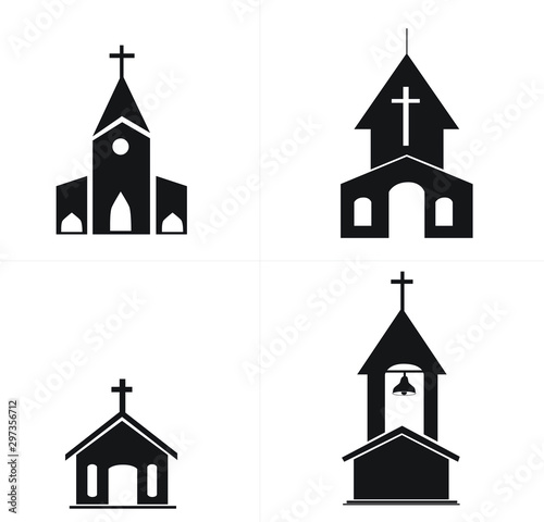 Fotografia, Obraz vector illustration of a church