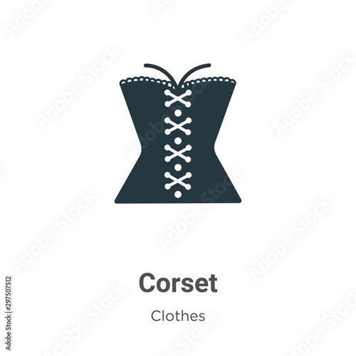 Obraz na płótnie Corset vector icon on white background