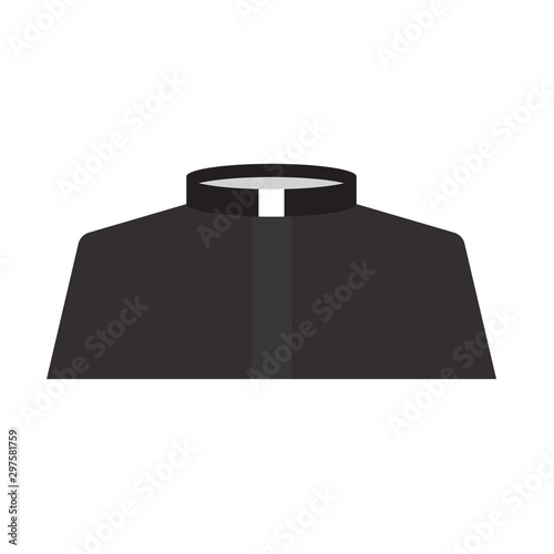 Fotografia, Obraz catholic priest dress icon- vector illustration