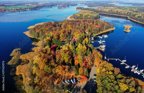 jesień na Mazurach w północno-wschodniej Polsce