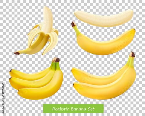 Fotografía Set of different bananas