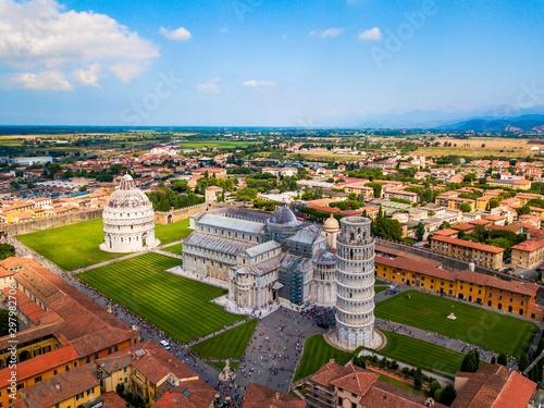 Carta da parati aerial of Pisa