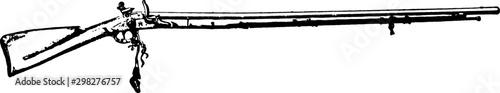 Fotografie, Obraz Flintlock Musket, vintage illustration.