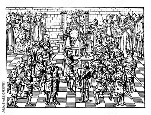 Obraz na płótnie Pope Urban II vintage illustration.