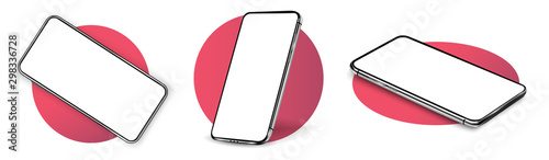 Fotografia, Obraz Smartphone frame less blank screen, rotated position