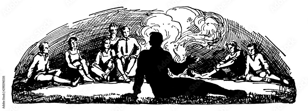 Camps vintage illustration. <span>plik: #298396538   autor: Morphart</span>