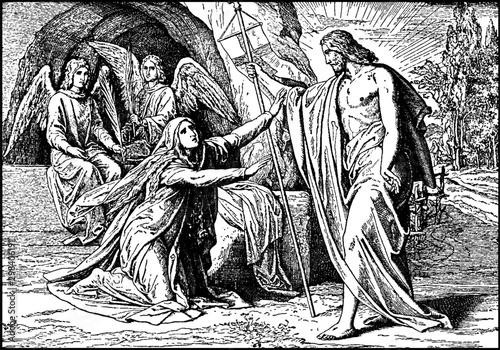 Wallpaper Mural Jesus Appears to Mary Magdalene After His Resurrection vintage illustration