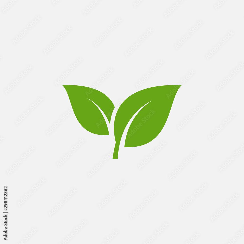 Zielonego liścia ekologii natury elementu wektorowa ikona, liść ikona, zielony liść ekologii natury elementu wektor <span>plik: #298412362 | autor: kursi_design</span>