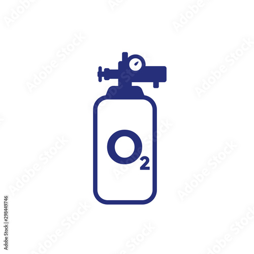 Photo oxygen cylinder or tank icon