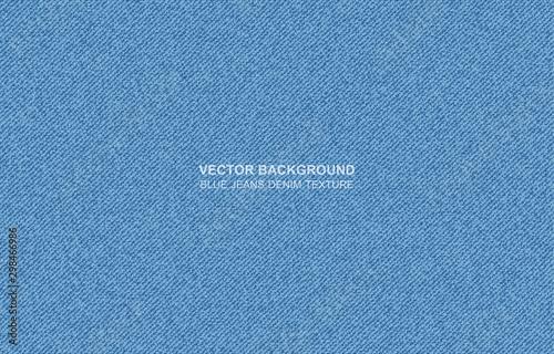 Fotografia, Obraz vector background Blue jeans denim texture - backgvector background Blue jeans d
