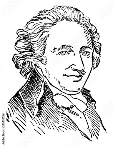 Tablou Canvas Thomas Paine, vintage illustration