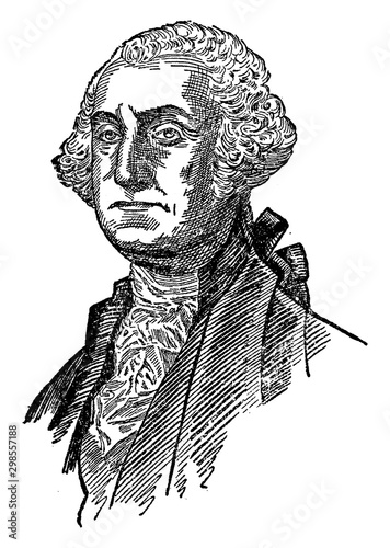 Canvas Print George Washington, vintage illustration