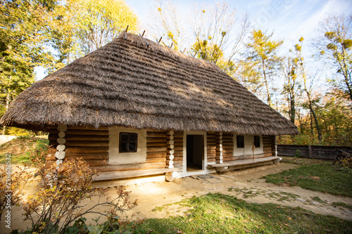 Ancient village house in Museum of Folk Architecture and Rural Life in Lviv (Shevchenkivsky Gai )