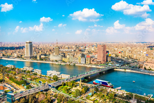 Cairo and Nile from above