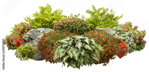 Valokuvatapetti Cutout garden design