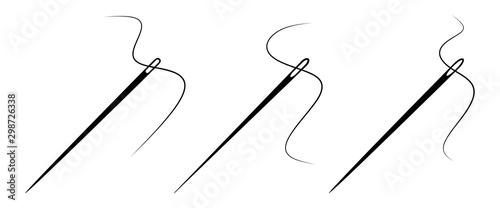 Fotografia, Obraz Set of sewing needle with a thread