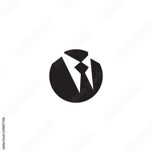 Photographie Tie logo icon design vector template