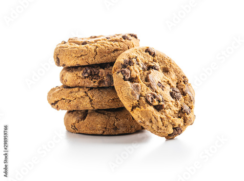 Fotografia Sweet chocolate cookies.