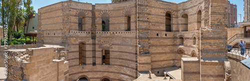 Fotografía Panoramic view of Babylon Fortress in Cairo, Egypt