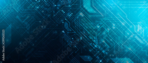 Abstract circuit board futuristic technology processing background