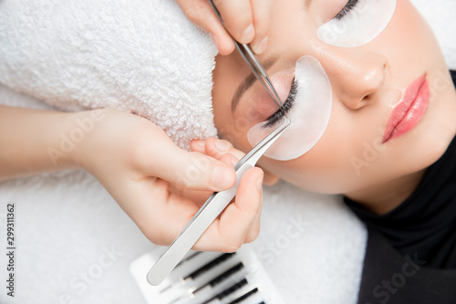 Slika na platnu Eyelash extension procedure