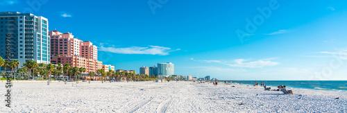 Clearwater beach with beautiful white sand in Florida USA Fototapeta