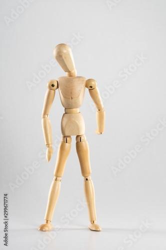 Fotografia, Obraz Wooden pose doll standing