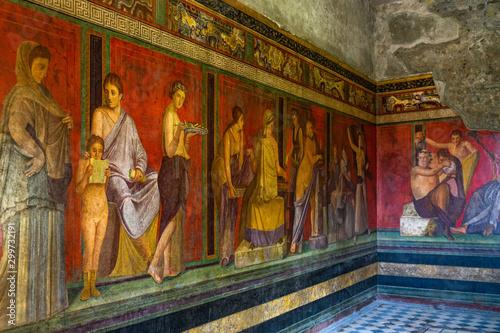 Photo The frescoes of Villa dei Misteri (Villa of the Mysteries), an ancient Roman vil