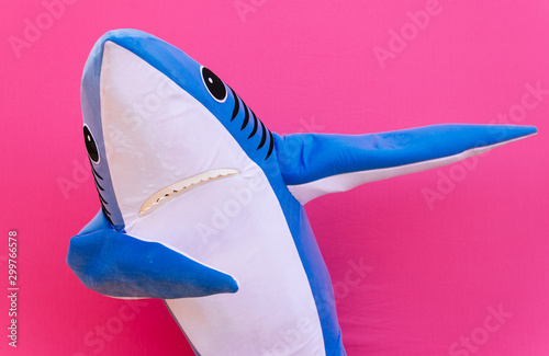 Fényképezés Character shark has a message for humanity about stop shark fishing and finning