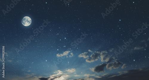 Valokuva full moon in the sky